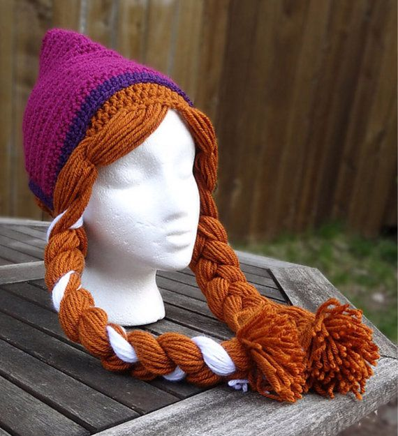 Anna Frozen crochet hat by SometimesICrochet on Etsy, $25.00