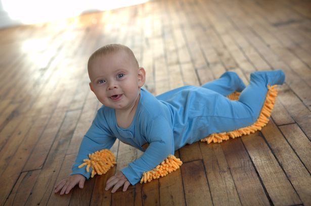 wacky invention, baby mop