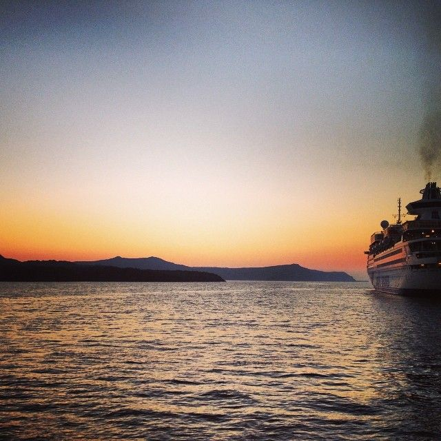 An absolutely impressive capture of our Louis Olympia, during a magic sunset at Santorini! Photo credits: http://instagram.com/flipsilva #instagram #sunset #magic #romantic #summer #Greece #traveling