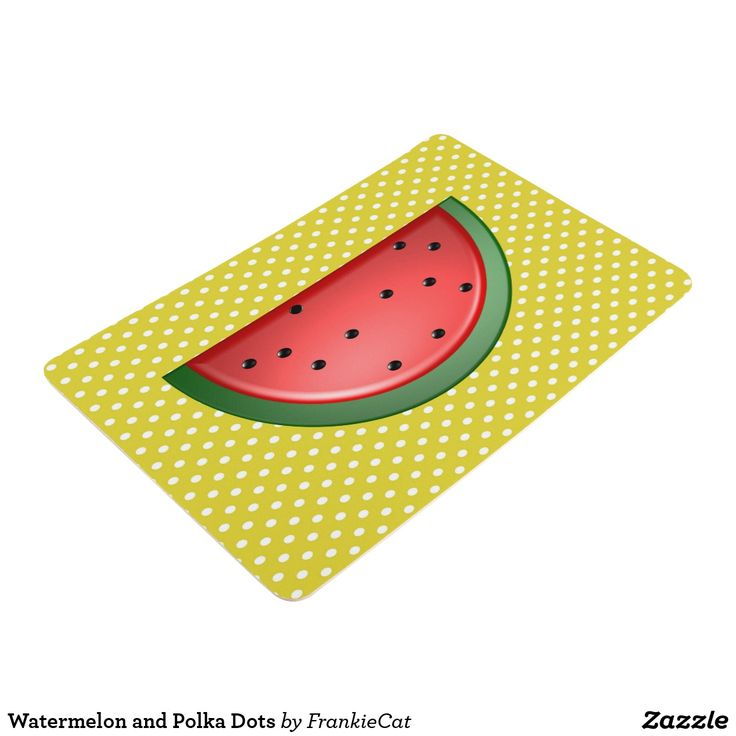 Watermelon and Polka Dots Floor Mat