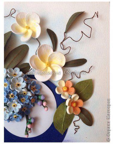Картина панно рисунок Бумагопластика Квиллинг Фантазия Бумага Бумажные полосы Краска Проволока фото 3