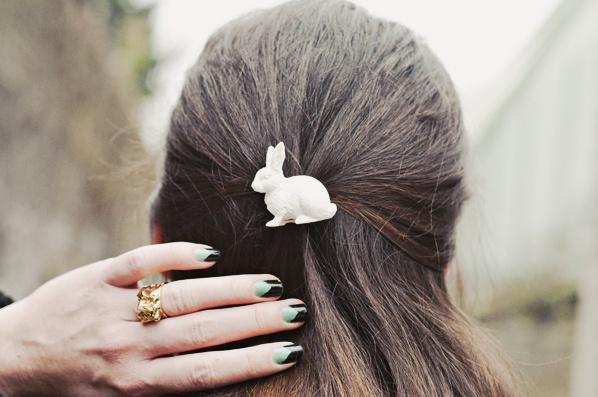 Molletta per capelli e anello