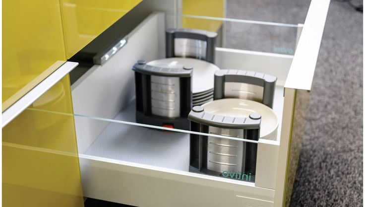 Smart storage with high quality functional opening and closing in one of our premium Craftsmen kitchens.