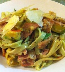Fettuccini Carbonara with Avocado - Your Inspiration at Home - Recipes