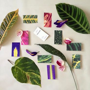 Flora & Laura business cards inspired by beautiful leaves.