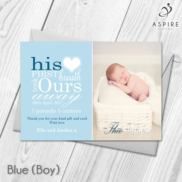 Best Personalised Photo New Baby Birth Announcement Thank You - Card template free: birth announcement thank you cards