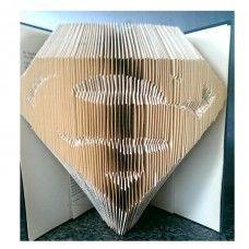 Superman - Book Folding Pattern - 569 Pages/285 Folds