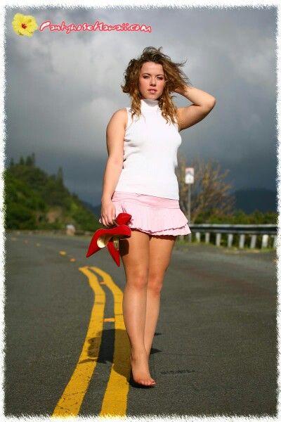Hawaii pantyhose model