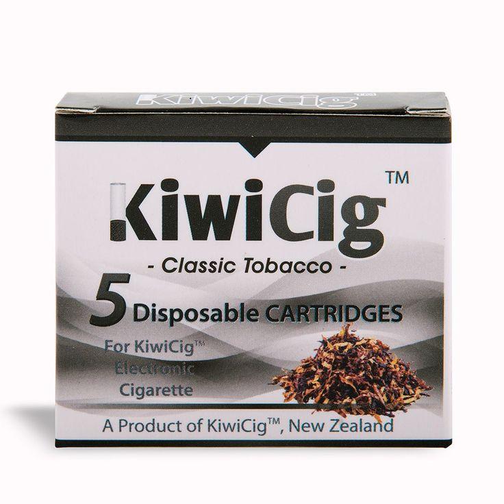 KiwiCig™ cartridges: CLASSIC TOBACCO: Black Colour - KiwiCig NZ