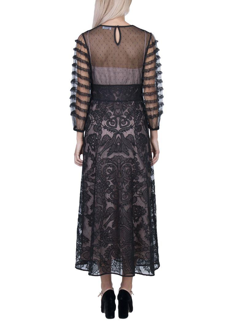 Черное комбинированное платье VALENTINO RED – купить в интернет-магазине по цене 93400 руб., арт. NR0VA07C 3A0 - ElytS.ru