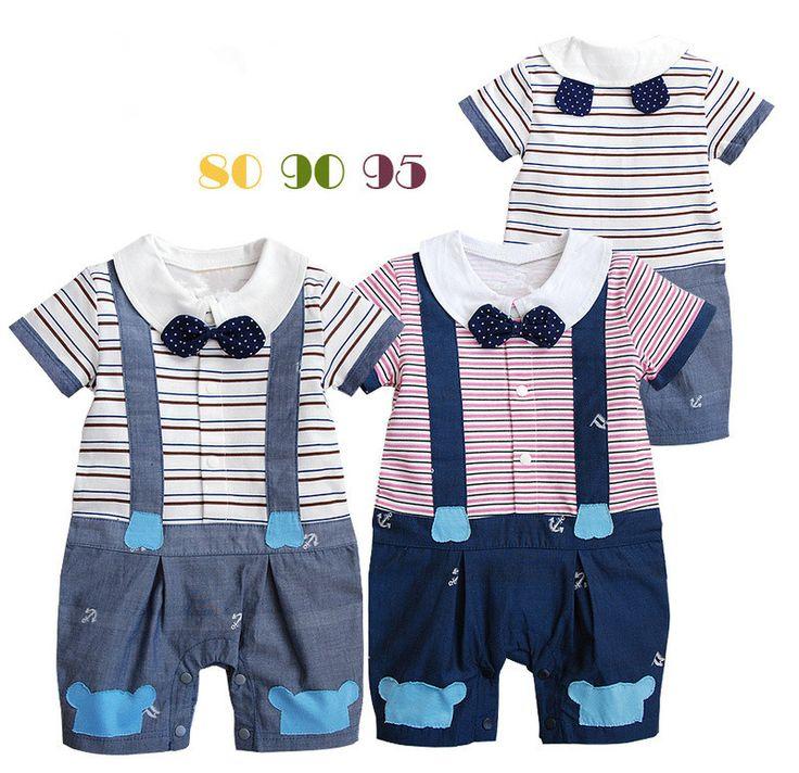 Лето детские полоска одежда дети одежда размер 80 90 95 мальчики-младенцы короткий рукав детские комбинезоны дизайн детской свободного покроя