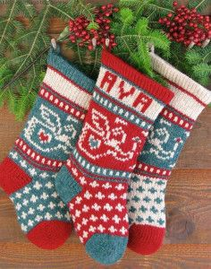 Beautiful Knitted Christmas Stocking Patterns http://knitting.myfavoritecraft.org/knitted-christmas-stocking-patterns/