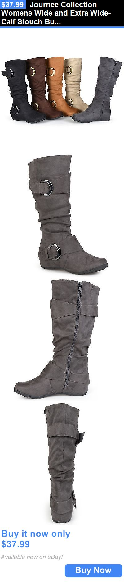 Women Boots: Journee Collection Womens Wide And Extra Wide-Calf Slouch Buckle Knee-High Boots BUY IT NOW ONLY: $37.99
