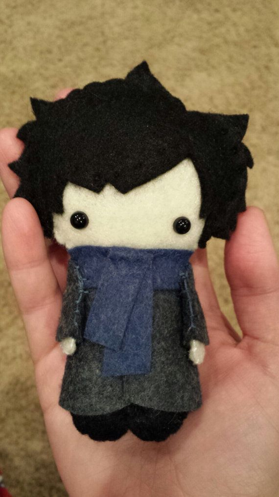 Sherlock BBC Felt Plush Doll by WordsToSewBy on Etsy