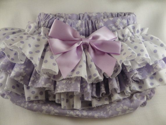 Orchid Polka Dot Ruffle Diaper Cover Ruffle by SunKissedCuties, $19.99