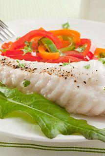 Queue de lotte vapeur aux tagliatelles de légumes (400 g de queue de lotte, 1 belle courgette (250-300 g), 2 carottes (100 g chacune)) - Rec...
