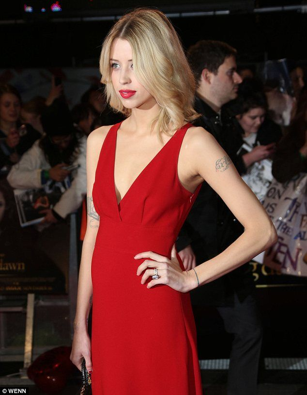 Peaches Geldof + Red Dress