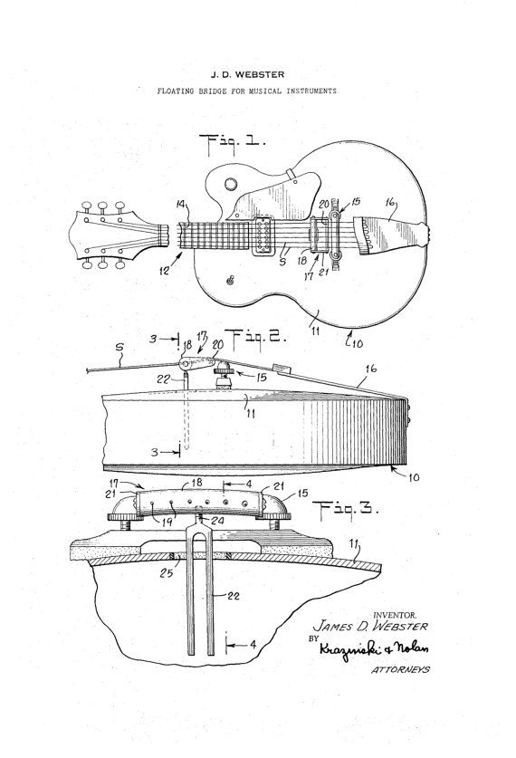 42 best guitar patents images on pinterest