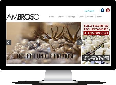 E-Commerce di ingrosso di articoli per fioristi Ambroso. Il catalogo prodotti è facilmente gestibile e organizzabile tramite CMS.   Davvero un bel lavoro, vero?