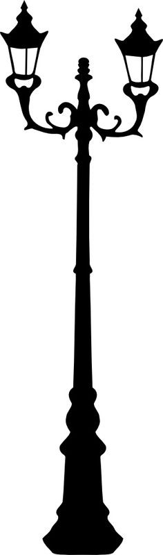 Vintage Lamp Post Silhouette