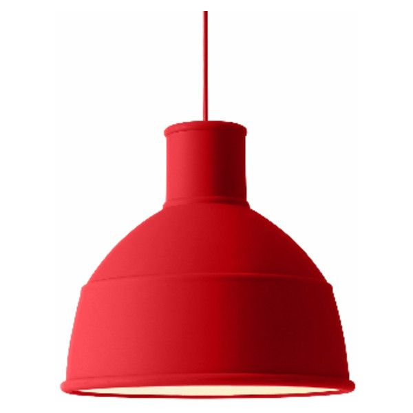 Dusty Red UNFOLD Pendant Light (£149) ❤ liked on Polyvore featuring home, lighting, ceiling lights, circular shades, cord lamp, red pendant lighting, round shades and red pendant light