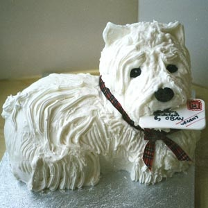 3D Scottie Dog cake