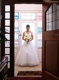 Lauris ballgown in Ivory by Blushing Bride Designs