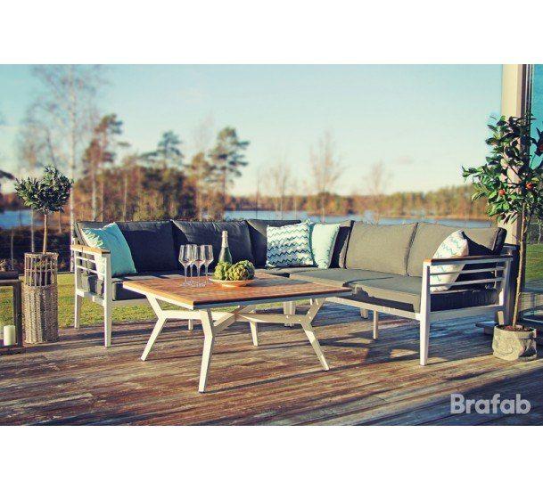Brafab - Perth Loungesæt - Hvid - Loungesæt i hvid aluminium