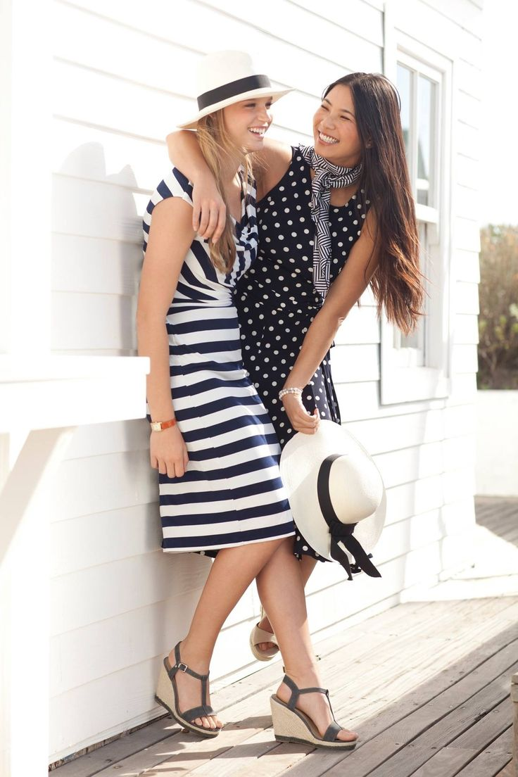Blues and Whites, Polka dots and stripes. #LoveNautical