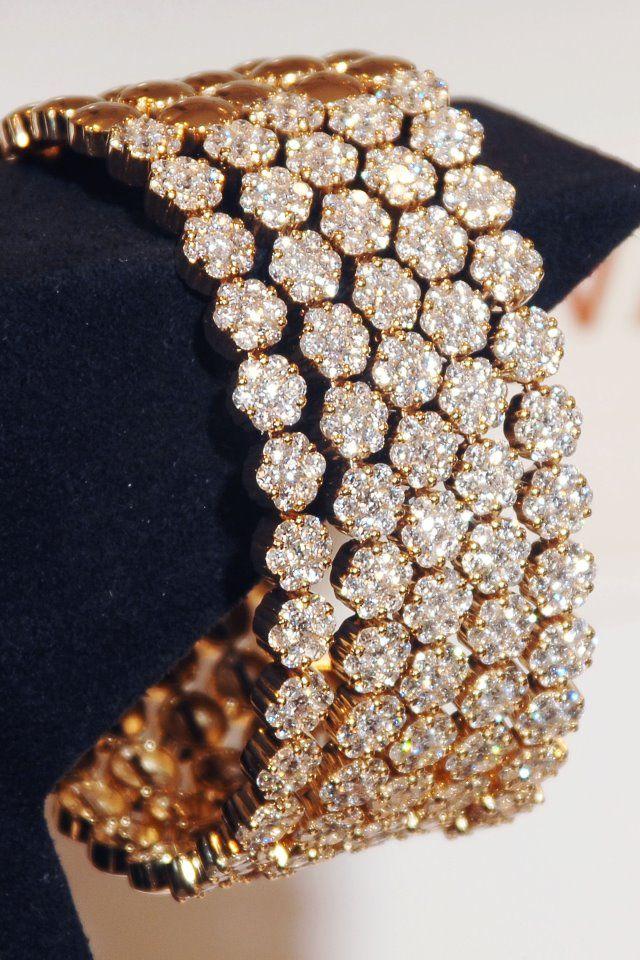 Honeycomb Vanilla diamond bracelet by Le Vian.
