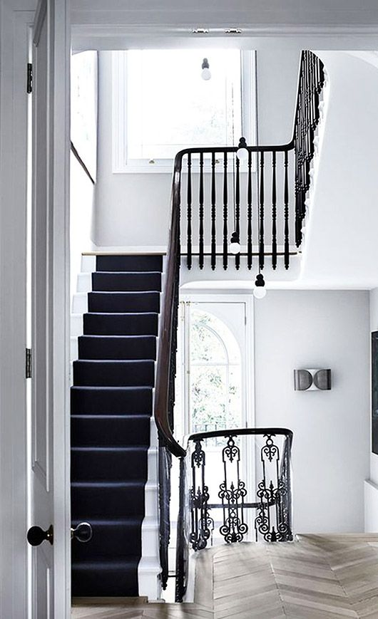 black and white stairwell. / sfgirlbybay   Awe-inspiring direction