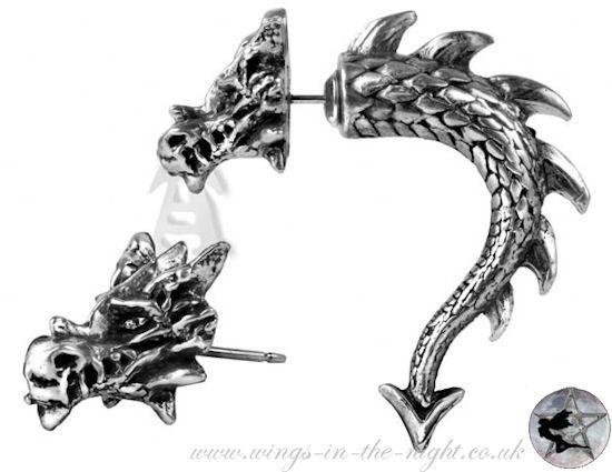 Alchemy Gothic Earring Tor Dragon