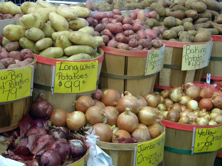 Onions & Potatoes, Greensboro Farmers Market #GSO BentTuba.com