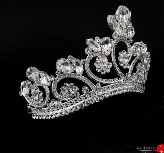 a fairy princess tiara tiaras for wedding  princess tiara crown  crystal by Lesense, $250.00