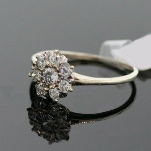 Antique Flower-Shaped Diamond Ring
