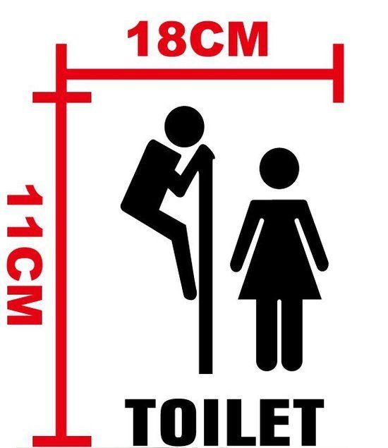 """Toilet Sticker Muur sticker Deur sticker Wc sticker """"Gluren"""""""