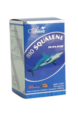 Squaline 1000mg   Squalene is a pure natural substance which exists only in small amounts in human tissue, but is the major composition (up to 85%) of the livers of deep-sea sharks. It is extracted from shark livers, and its purity and effect on health care are incomparable by shark liver oil.   http://www.purenaturalhealth.com.au/products.php?psid=211&gtitle=bone-and-joint-care
