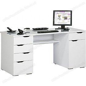 Calgary Computer Desk White £216 - Computer Desks