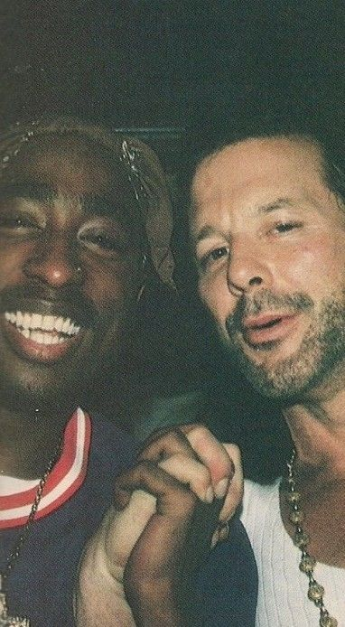 Tupac Shakur and Mickey Rourke