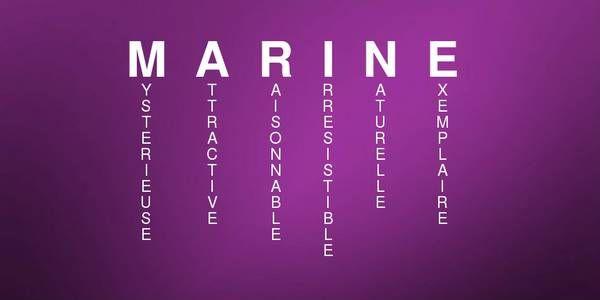 Signification du prénom MARINE