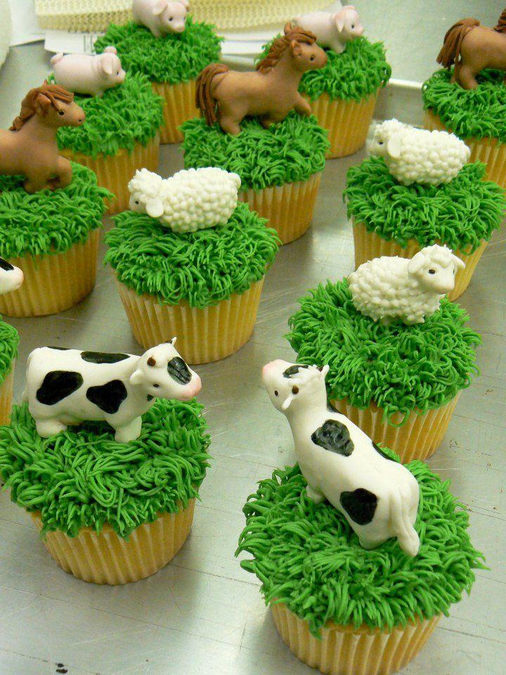 Loving the farm animals
