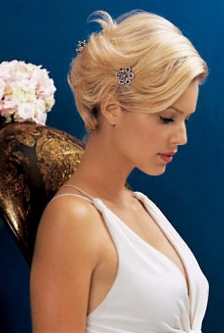 Bruidskapsels kort haar