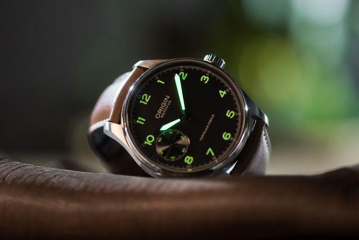 Origin Watch Co. vintage field watch green lume