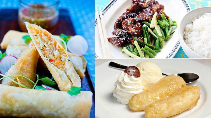 Matfest til kinesisk nyttår: Vårruller, kinesisk kylling, fritert banan og annet digg