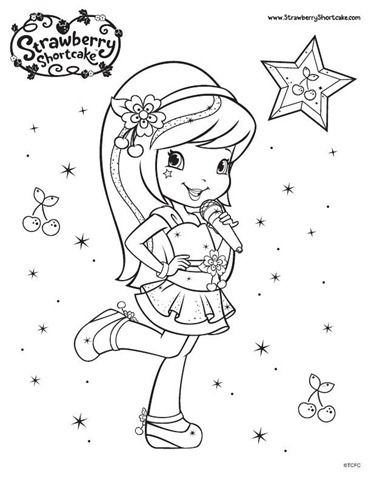 221 best Coloring-Strawberry Shortcake images on Pinterest ...