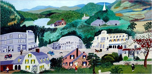 163 Best Art...Grandma Moses..folk Art Images On Pinterest