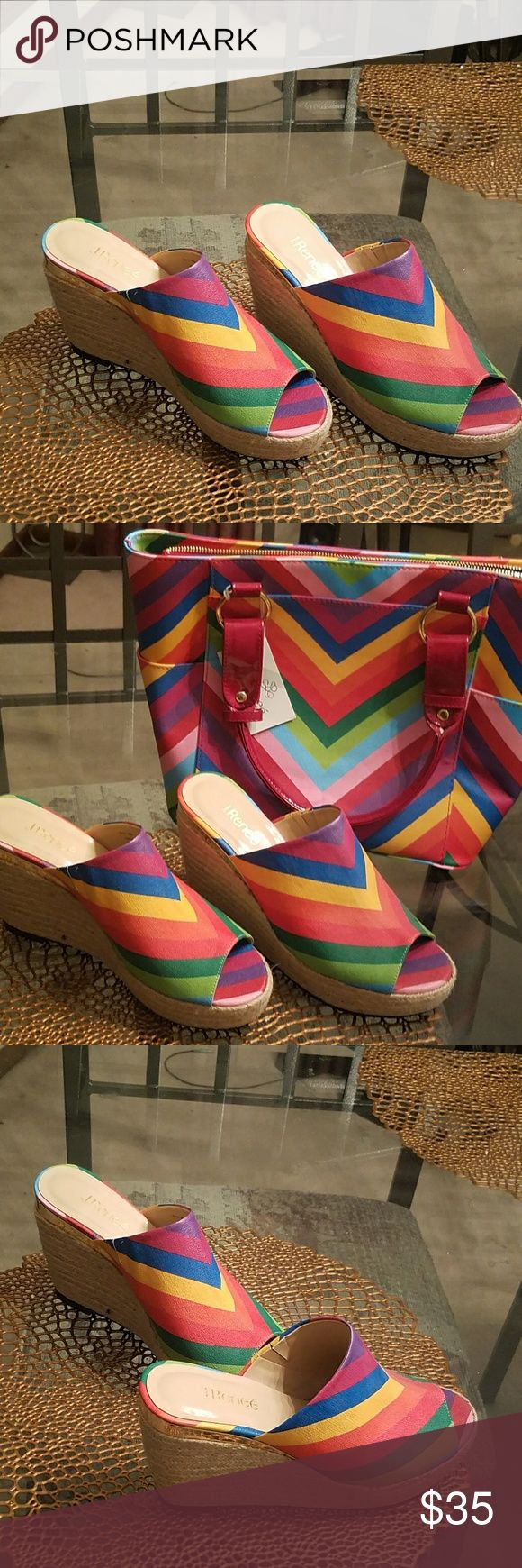 Multi color wedge Open toe wedge (multicolor) J Renee Shoes Wedges