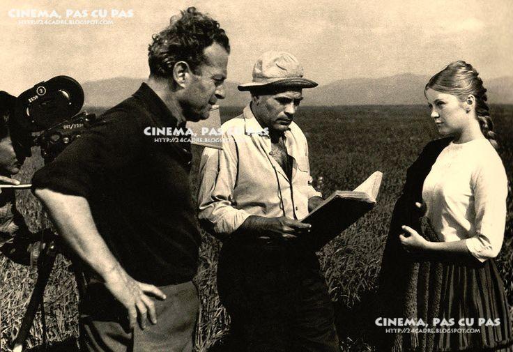 """Ovidiu Gologan, Liviu Ciulei și Ana Szeles pe platoul de filmare la """"Pădurea spânzuraților"""""""