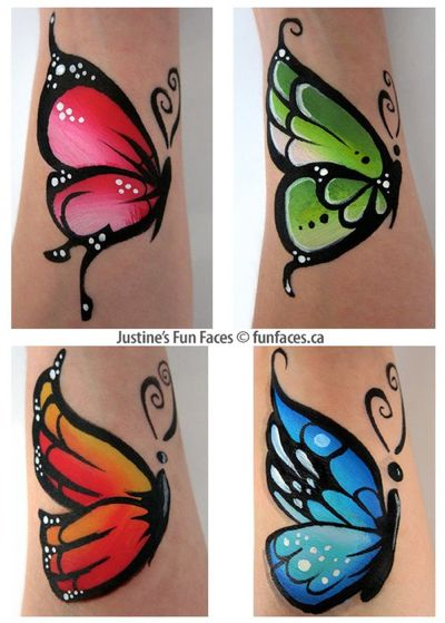 Different Colors of Butterfly for Face/Body Paint.                                                                                                                                                      More