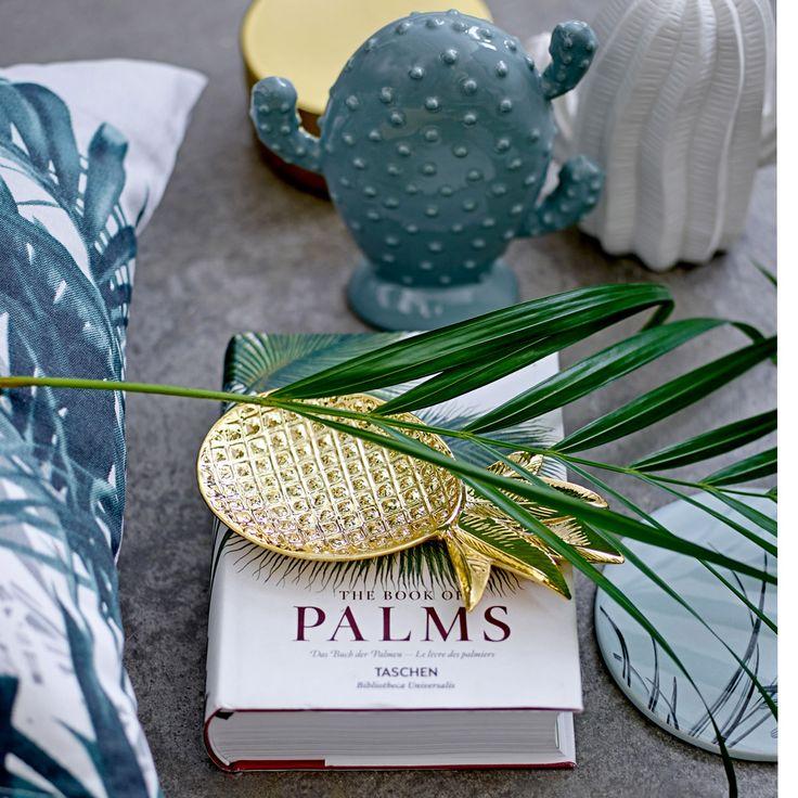 Schale, Taschenleerer, kleines Tablett oder als Stillleben: die kupferfarbene Schale in Form einer Ananas von Bloomingville ist einfach ein Traum!